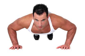 Man doing push-up