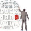 Businessman with calculator.