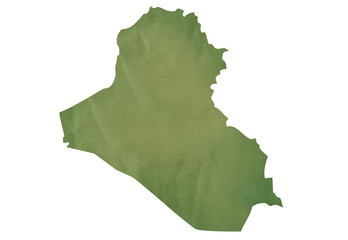 Old green map of Iraq