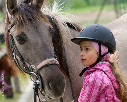 Horse whispers - Horse and lovely girl - best friends - 42306252