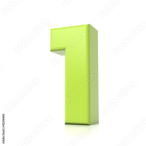 3D green number collection - 1
