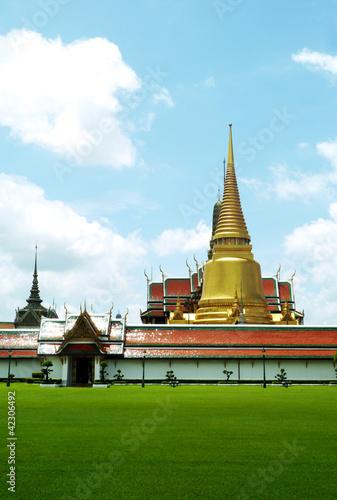 Wat Phra Kaeo Temple in Bangkok's most famous landmark