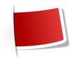 Schild rot leer