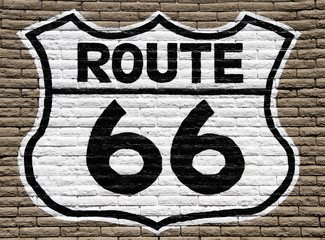 Route 66 wall