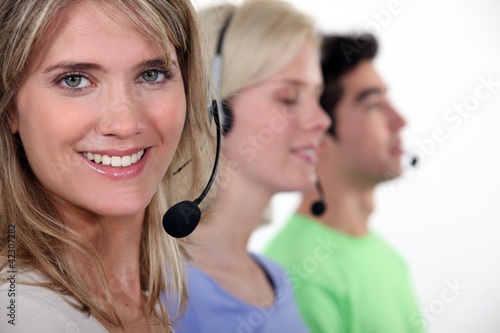 A customer service hotline.