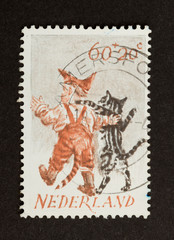 HOLLAND - CIRCA 1970: Stamp printed in the Netherlands