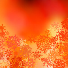Orange yellow Christmas bokeh background. EPS 8