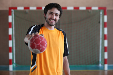 player holding ball