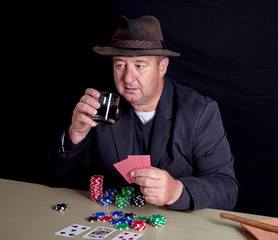 Man at poker