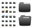folder Icons Set for Web Applications & Internet - Vector