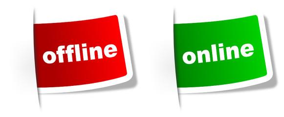 Schilder Online und offline