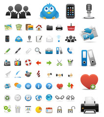 user Icons Set for Web Applications & Internet - Vector