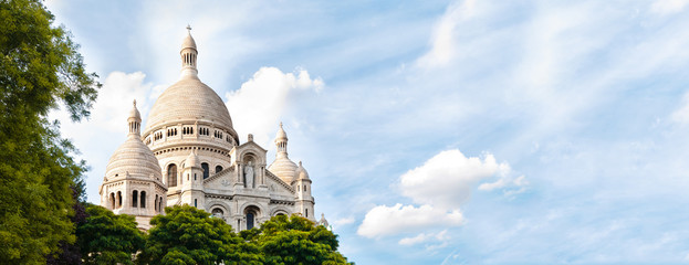 wide view of Basilica of the Sacred Heart of Paris