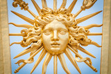 Fototapety Element of golden gate of Chateau de Versailles.