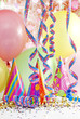 party birthday background with balloons