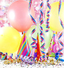 party colorful birthday background with balloons
