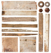 Set of  wood plank isolated