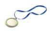 blank gold sports medal  with copyspace and clipping path