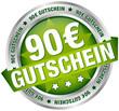 """Button Banner """"90 € Gutschein"""" grün/silber"""