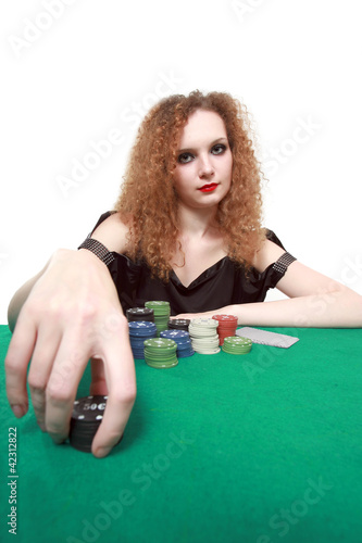my bet poker isolated