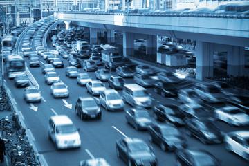 traffic rush hour  in shanghai
