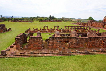 Jesuit mission Ruins in Trinidad Paraguay