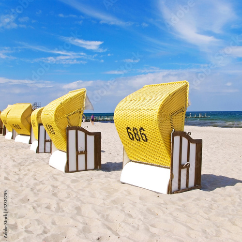 beach chairs baltic sea