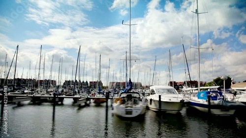 sail boats by Volendam (Netherlands)