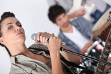 Singer in a rock band