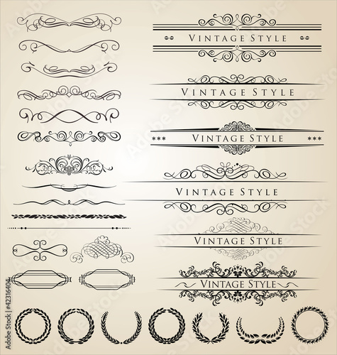 Decorative border and frame set