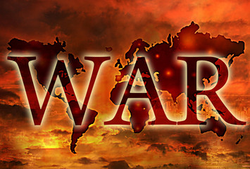 world war map apocalypse concept