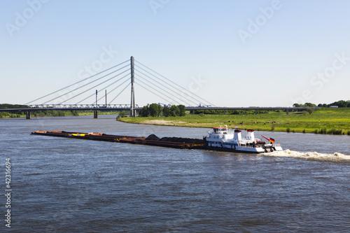 Schubverband auf dem Rhein bei Wesel - 42316694