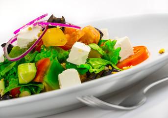 Closeup of Greek Salad