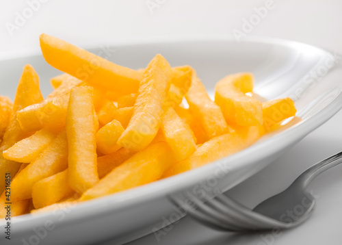fried potatoes on plate