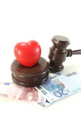 Medizinrecht mit Richterhammer
