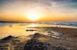 Leinwandbild Motiv Ostsee Sonnenuntergang