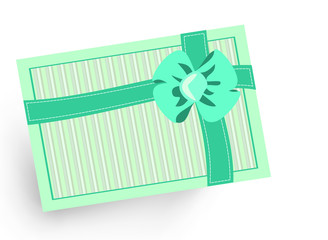 blue striped gift ribbon christmas birthday