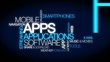 Mobile Apps software application tag cloud animation