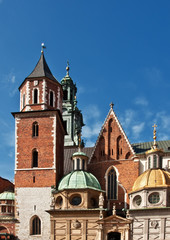 beautiful polish architecture from krakow city poland