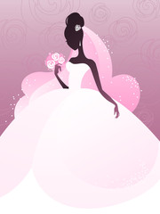 Young bride silhouette