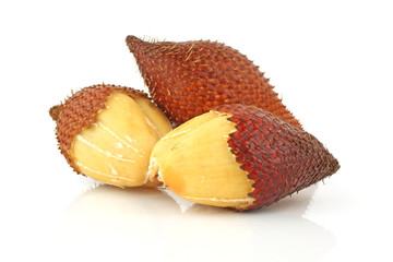 Salak Fruit On White Background