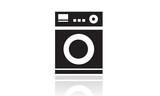 Washing machines icon, domestic appliances, laundry poster