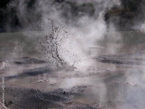 Geyser,mud and pool
