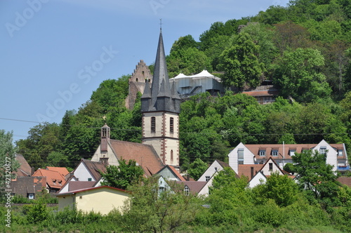 canvas print picture Kirche in Gemünden am Main