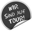 TF-Sticker rund curl unten WIR SIND AUF TOUR