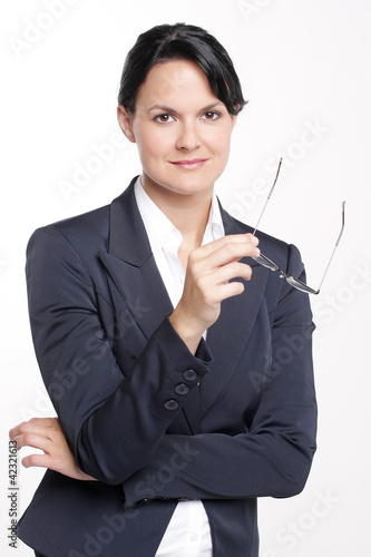 Attraktive Frau im Business outfit