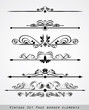set of page border ornament