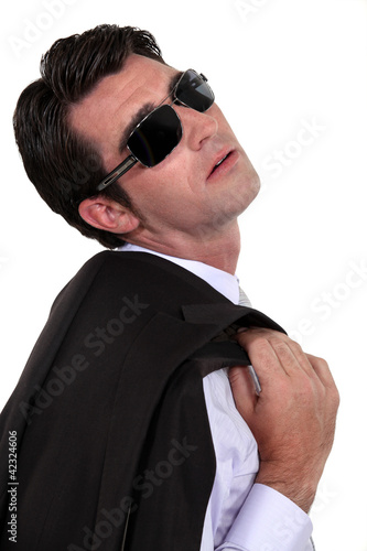 Businessman in shades