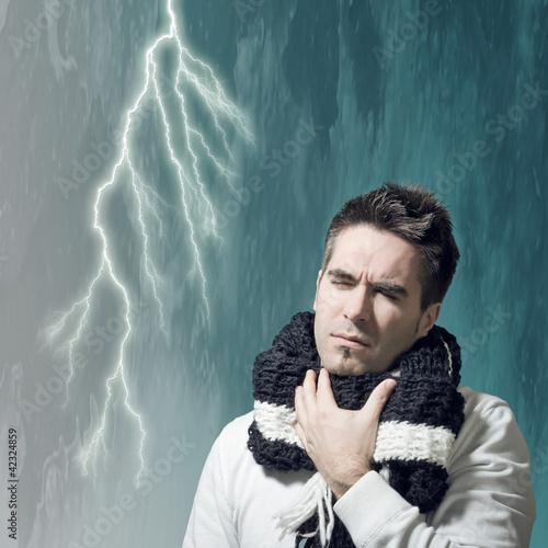 Erkältung trifft wie ein Blitz