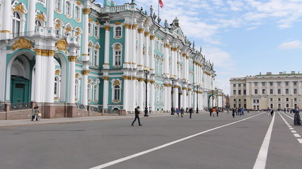 St. Petersburg. View of the Hermitage on a summer day